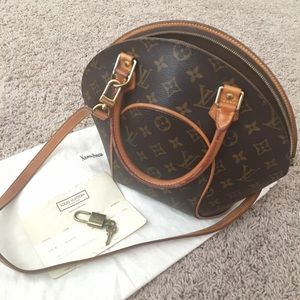 Louis Vuitton Ellipse PM w shoulder strap receipt